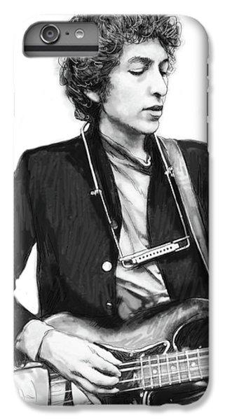 Bob Dylan Drawing Art Poster IPhone 6 Plus Case by Kim Wang