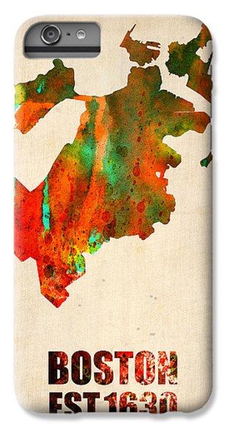 Boston Watercolor Map  IPhone 6 Plus Case by Naxart Studio