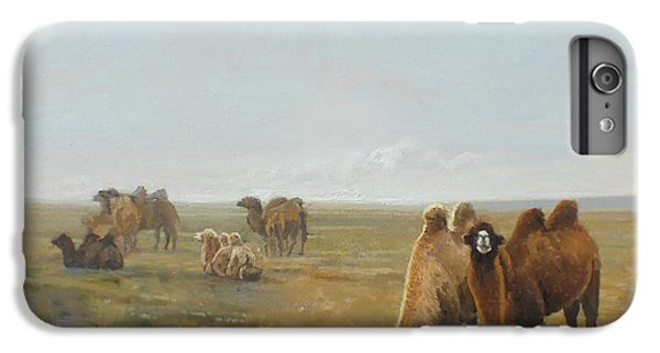 Camels Along The River IPhone 6 Plus Case by Chen Baoyi