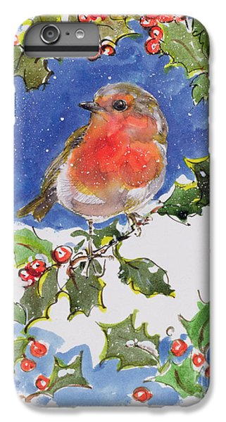 Christmas Robin IPhone 6 Plus Case by Diane Matthes