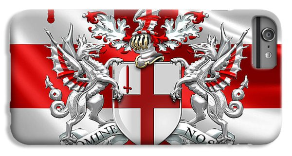 City Of London - Coat Of Arms Over Flag  IPhone 6 Plus Case