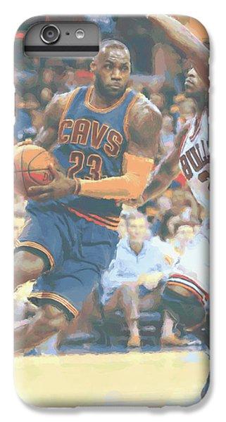 Cleveland Cavaliers Lebron James 2 IPhone 6 Plus Case by Joe Hamilton