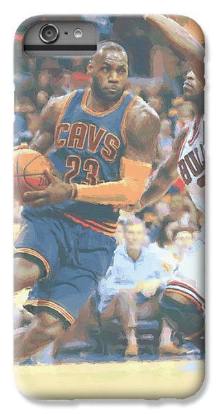 Cleveland Cavaliers Lebron James 2 IPhone 6 Plus Case by Joe Hamilton