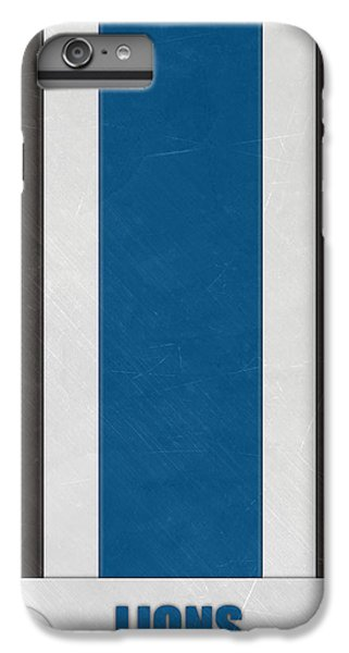 Lion iPhone 6 Plus Case - Detroit Lions Helmet Art by Joe Hamilton