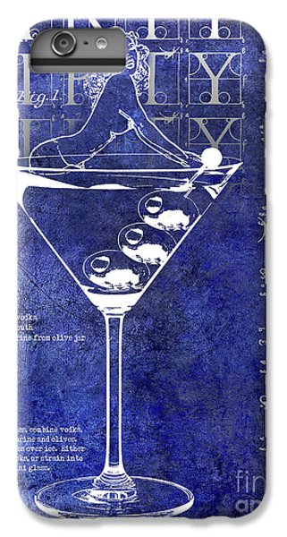 Dirty Dirty Martini Patent Blue IPhone 6 Plus Case
