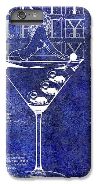 Dirty Dirty Martini Patent Blue IPhone 6 Plus Case by Jon Neidert