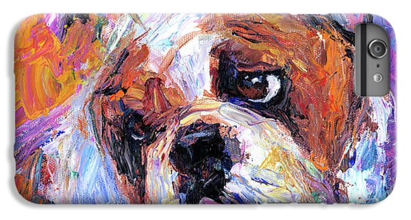 Impressionistic Bulldog Painting  IPhone 6 Plus Case by Svetlana Novikova