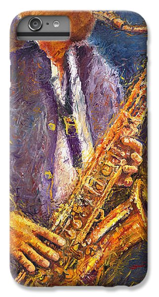Jazz iPhone 6 Plus Case - Jazz Saxophonist by Yuriy Shevchuk