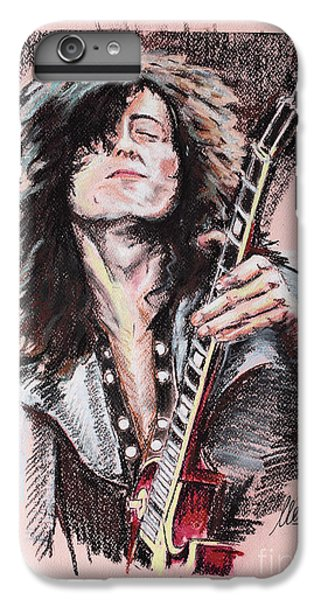 Rock Music Jimmy Page iPhone 6 Plus Case - Jimmy Page by Melanie D