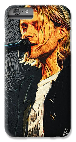 Kurt Cobain IPhone 6 Plus Case by Taylan Apukovska