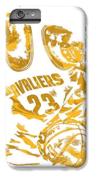 Lebron James Cleveland Cavaliers Pixel Art 7 IPhone 6 Plus Case by Joe Hamilton