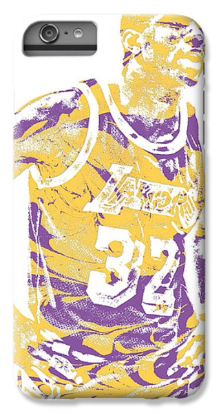 1ebb118d1676a Lakers iPhone 6 Plus Case - Magic Johnson Los Angeles Lakers Pixel Art 6 by  Joe