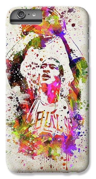 Michael Jordan In Color IPhone 6 Plus Case by Aged Pixel