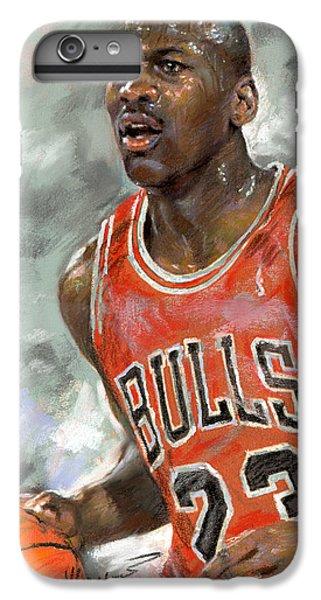 Basketball iPhone 6 Plus Case - Michael Jordan by Ylli Haruni