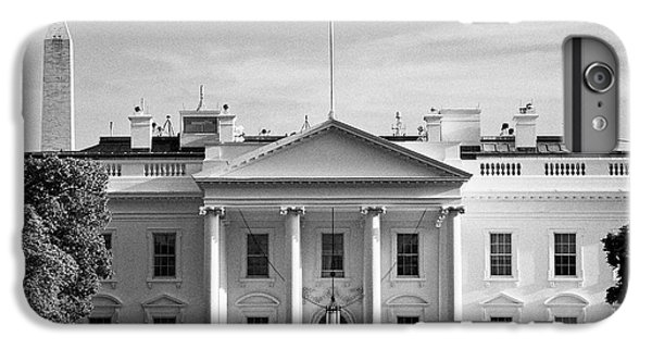 Whitehouse iPhone 6 Plus Case - north facade from pennsylvania avenue the white house with washington monument in the background Was by Joe Fox