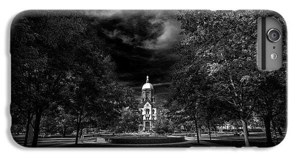 Notre Dame University Black White IPhone 6 Plus Case by David Haskett