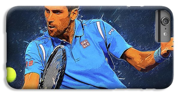 Novak Djokovic IPhone 6 Plus Case by Semih Yurdabak