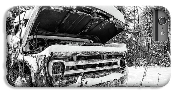 iPhone 6 Plus Case - Old Abandoned Pickup Truck In The Snow by Edward Fielding