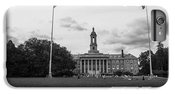 Old Main Penn State Black And White  IPhone 6 Plus Case by John McGraw
