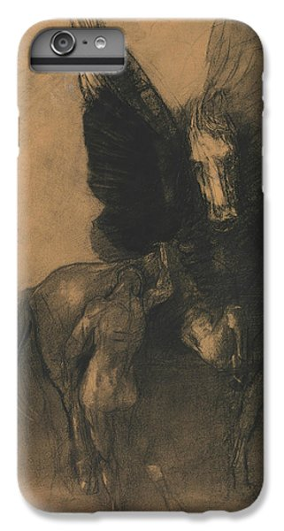 Pegasus And Bellerophon IPhone 6 Plus Case by Odilon Redon