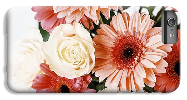 Pink Gerbera Daisy Flowers And White Roses Bouquet IPhone 6 Plus Case by Radu Bercan