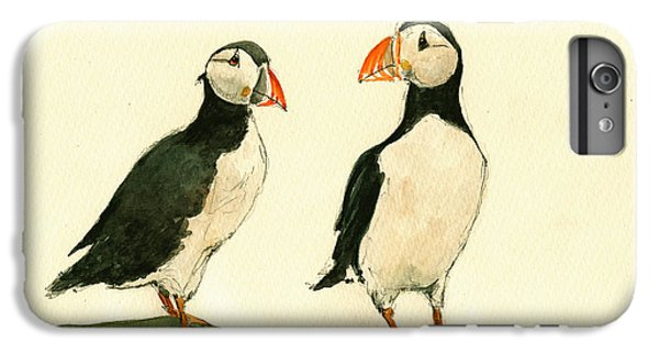 Puffin iPhone 6 Plus Case - Puffins  by Juan  Bosco