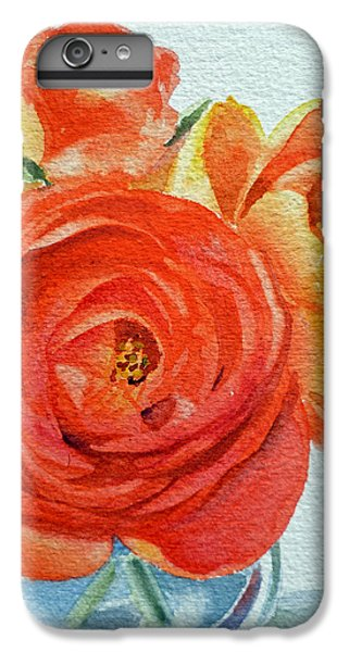 Rose iPhone 6 Plus Case - Ranunculus by Irina Sztukowski