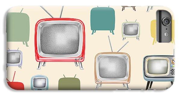 retro TV pattern  IPhone 6 Plus Case by Setsiri Silapasuwanchai