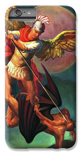 iPhone 6 Plus Case - Saint Michael The Warrior Archangel by Svitozar Nenyuk