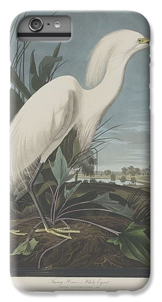 Ibis iPhone 6 Plus Case - Snowy Heron Or White Egret by Dreyer Wildlife Print Collections