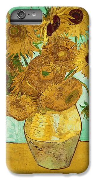 Flowers iPhone 6 Plus Case - Sunflowers By Van Gogh by Vincent Van Gogh