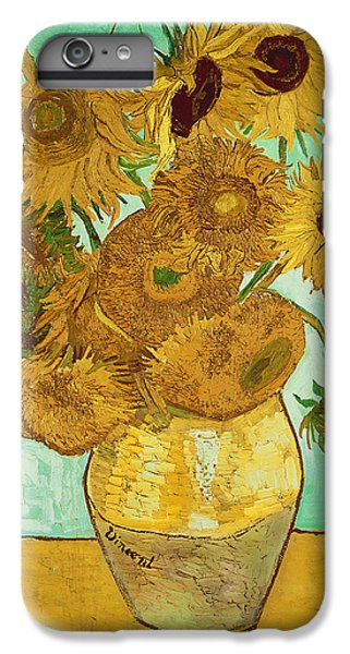 Green iPhone 6 Plus Case - Sunflowers By Van Gogh by Vincent Van Gogh