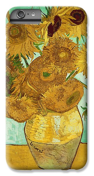 Sunflower iPhone 6 Plus Case - Sunflowers By Van Gogh by Vincent Van Gogh