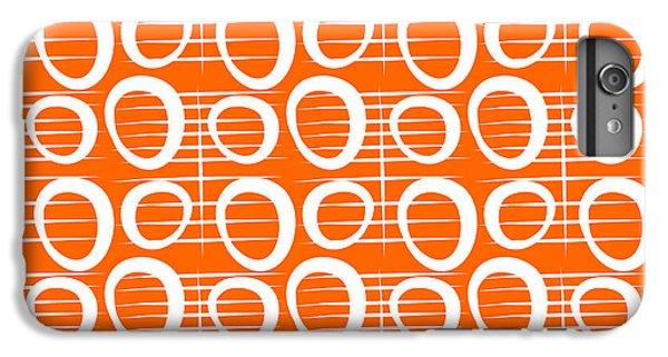 White iPhone 6 Plus Case - Tangerine Loop by Linda Woods