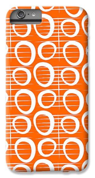 Tangerine Loop IPhone 6 Plus Case by Linda Woods