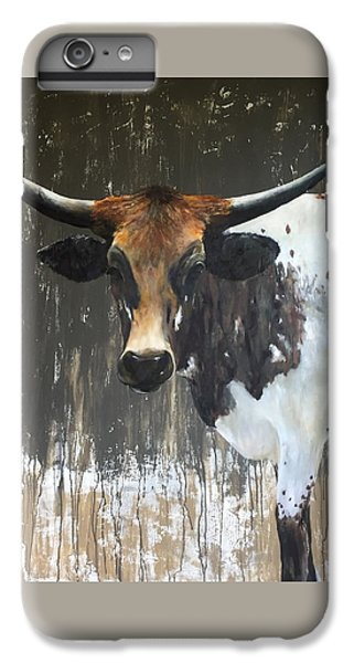 Cow iPhone 6 Plus Case - Texas Longhorn by Cheryl Green