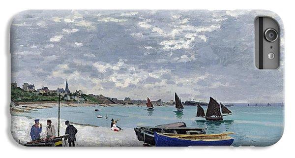 Water Ocean iPhone 6 Plus Case - The Beach At Sainte Adresse by Claude Monet