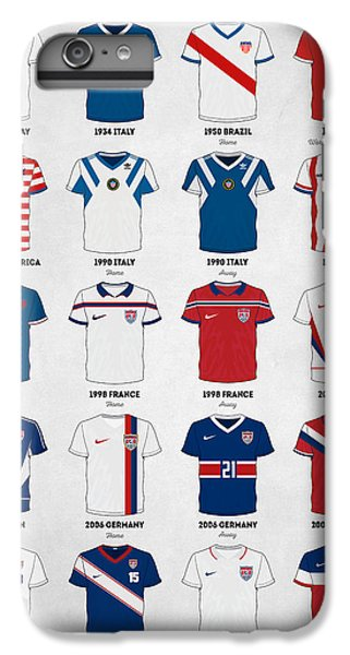 The Evolution Of The Us World Cup Soccer Jersey IPhone 6 Plus Case by Taylan Apukovska