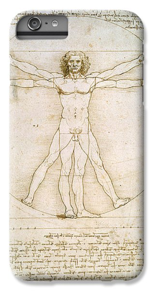 The Proportions Of The Human Figure IPhone 6 Plus Case by Leonardo da Vinci