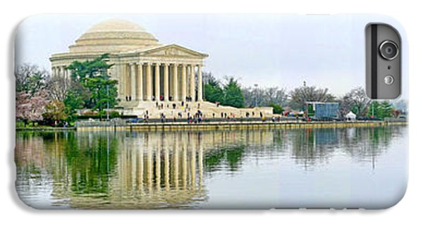 Jefferson Memorial iPhone 6 Plus Case - Tidal Basin With Cherry Blossoms by Jack Schultz