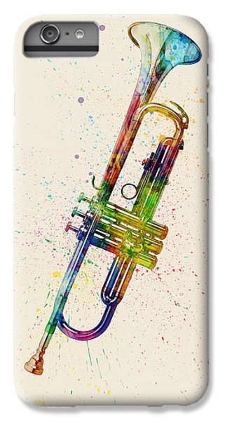 Trumpet iPhone 6 Plus Case - Trumpet Abstract Watercolor by Michael Tompsett