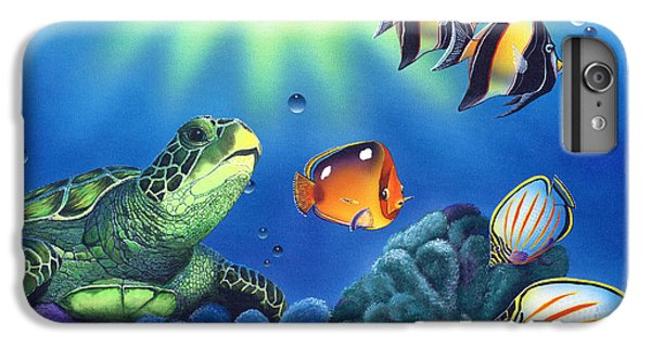 Turtle Dreams IPhone 6 Plus Case by Angie Hamlin
