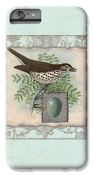 Welcome To Our Nest - Vintage Bird W Egg IPhone 6 Plus Case by Audrey Jeanne Roberts