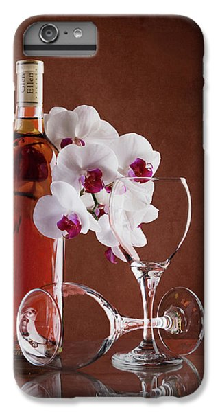 Orchid iPhone 6 Plus Case - Wine And Orchids Still Life by Tom Mc Nemar