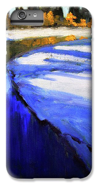 IPhone 6 Plus Case featuring the painting Winter River by Nancy Merkle