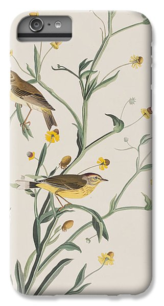 Yellow Red-poll Warbler IPhone 6 Plus Case by John James Audubon