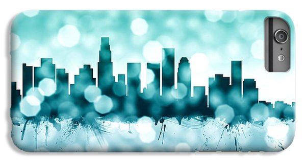 Los Angeles California Skyline IPhone 6 Plus Case by Michael Tompsett