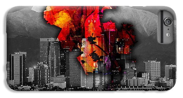 Los Angeles Map And Skyline IPhone 6 Plus Case by Marvin Blaine