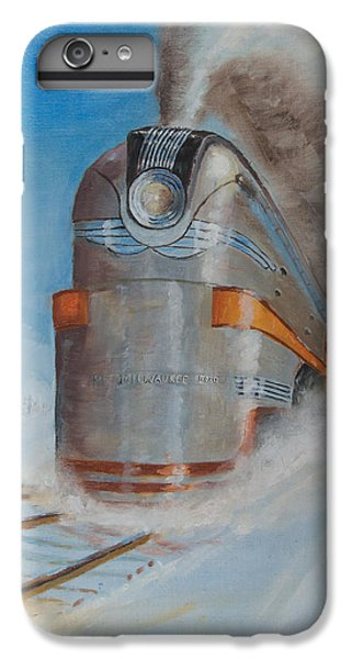 Train iPhone 6 Plus Case - 104 Mph In The Snow by Christopher Jenkins