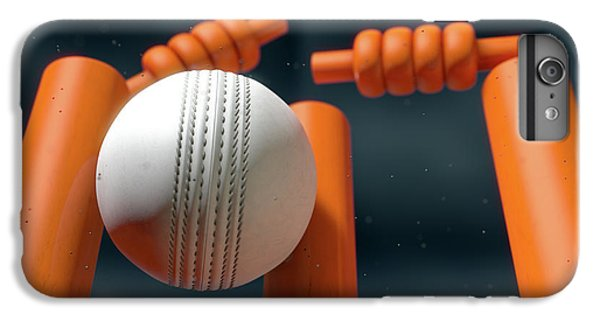 Cricket Ball Hitting Wickets IPhone 6 Plus Case